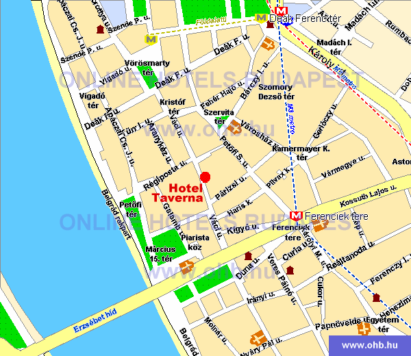 budapest váci út térkép Mercure Budapest City Center (korábbi Hotel Taverna) a Budapest  budapest váci út térkép