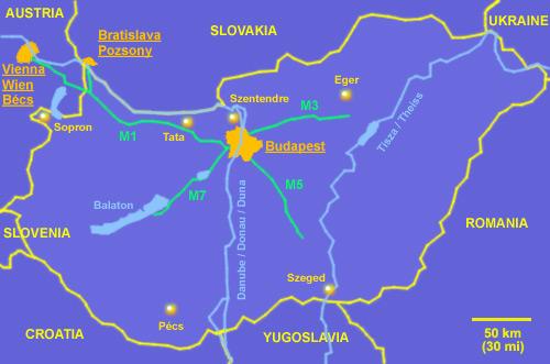 Hungary Tourist Information Map Of Hungary