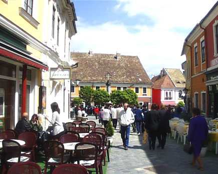 Szentendre, a peaceful little town is situated at the Danube bend, North of Budapest. It takes 20 minutes to get there by car or 40 minutes by public transportation. Szentendre is a town of arts and museums, and very popular among tourists.
